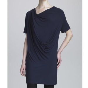 Donna Karan Draped Jersey Tunic ink Large NWT