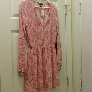 F21 Pink Boho Dress with Tassels
