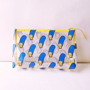 H&M Handbags - H&M DIVIDED Marge Simpson Clear Zip Makeup Pouch