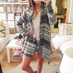 Forever 21 Sweaters - F21 Thick Woven Draped Hi-Lo Cardigan