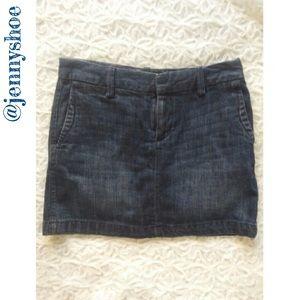 {gap} denim mini skirt