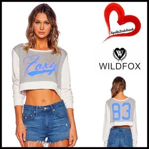 Wildfox Tops - ❗1-HOUR SALE❗WILDFOX Foxy Crop Top Sweatshirt