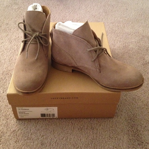 Lucky Brand - Lucky Brand booties size 5 oiled suede from Wild's ...