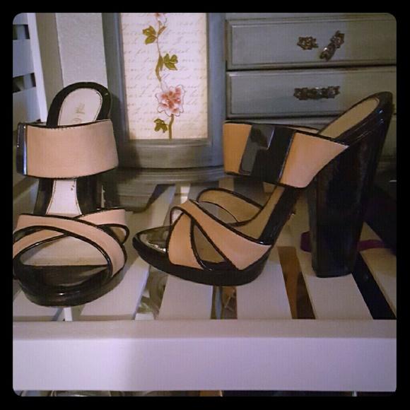 82% off L.A.M.B. Shoes - L.A.M.B. Gwen Stefani Black / Nude Heels ...