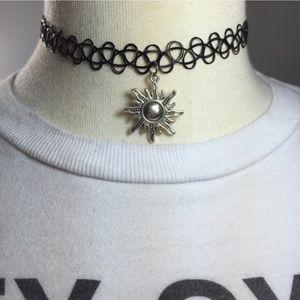 Sun Tattoo Choker Necklace