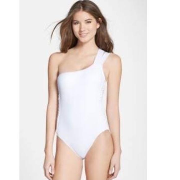 5adfef5a7dd La Blanca Swimwear One Shoulder Ruched One-Piece