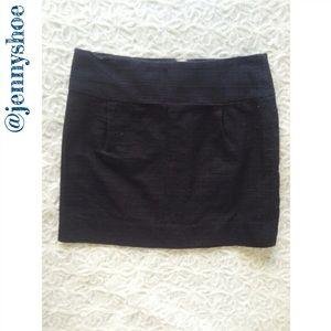 {j. crew} navy mini skirt