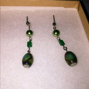 Jewelry - Emerald Homemade Earrings