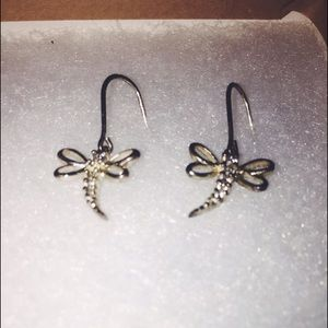 Jewelry - Gold Homemade Butterfly Earrings