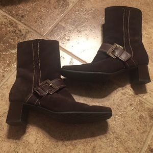 Ecco Shoes - Ecco Chocolate Brown Booties