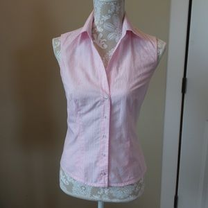Robert Friedman Tops - Italian Designer Sleeveless Button Down Blouse