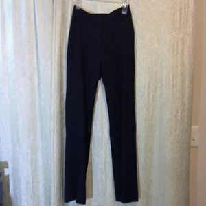Pants - Navy blue trouser pants with sweater.