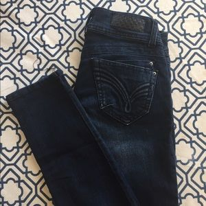 Jolt Indigo Whiskered Wash Skinny Jeans