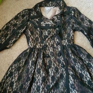 twelve by twelve Other - 12 b12 Anthropologie SALE$$$ lace black coat dress