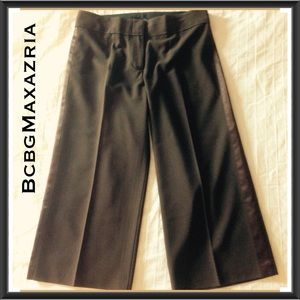 BcbgMaxazria Chocolate Brown Cropped Pants