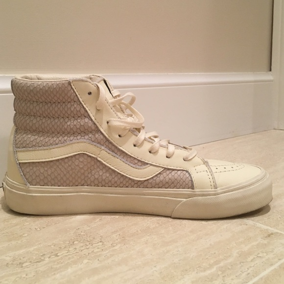 bbedb452fca4 Vans Snake Leather SK8-HI Reissue in Antique White.  M_571dadc55c12f8a07806f97b