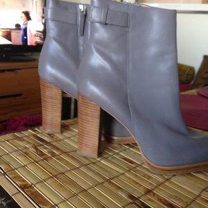 Grey Zara  leather booties