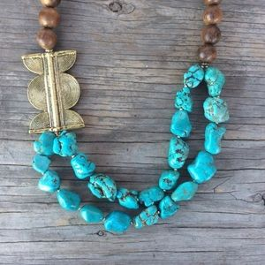 Hand Made- Turquoise Necklace, Statement Necklaces