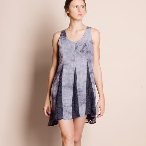 Bare Anthology Dresses & Skirts - Tie Dye Lace Insert Dress