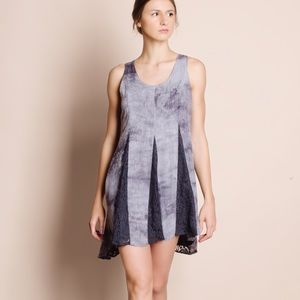 Tie Dye Lace Insert Dress