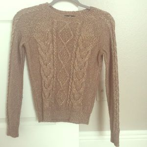 H&M Shimmer Tan/Gold Sweater
