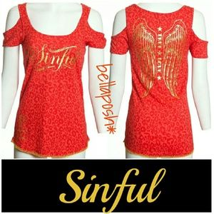 Sinful Tops - Sinful by Affliction Tee