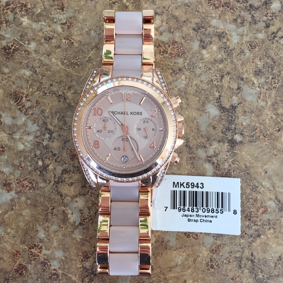 NWT Michael Kors Rose Gold Watch MK 5943 RTL:$295 Boutique