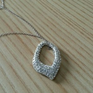 Jewelry - Sterling Silver Pave Necklace