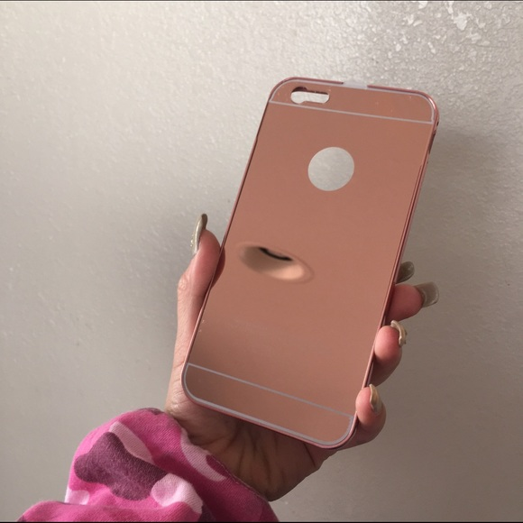 IPHONE 6 Or 6S PLUS ROSE GOLD MIRRORED PHONE CASE