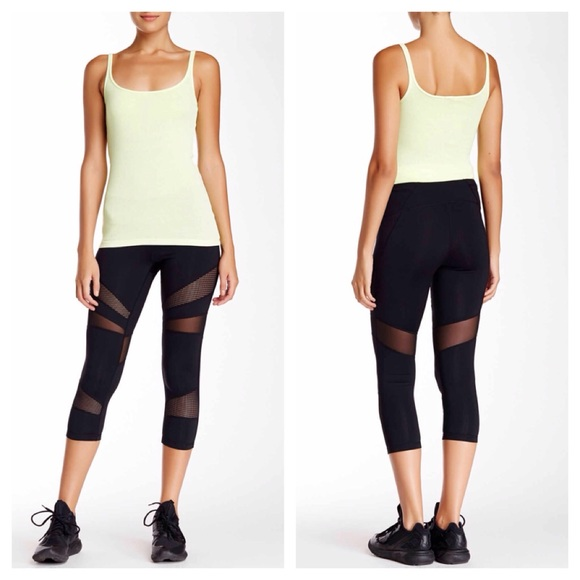caa187c4ca Zella Pants | Nwt Black And Mesh Crop Leggings Lululemon Like | Poshmark