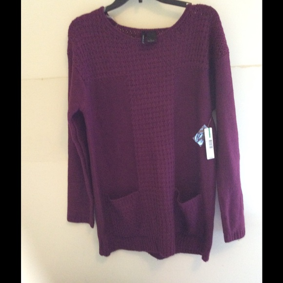 84% off new directions Sweaters - Purple tunic sweater from Jami's ...