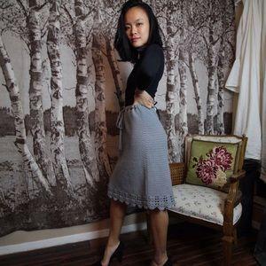 DKNY 100% lambswool crochet skirt