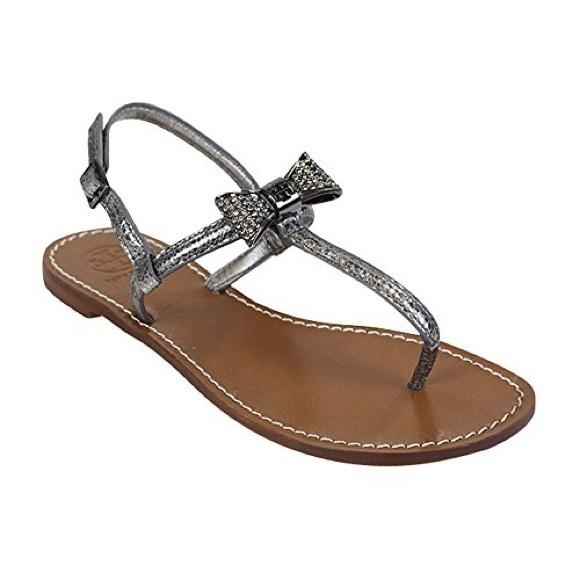 6464768fd40c Tory Burch Bryn Pave Bow Sandal Sz 7.5 NEW