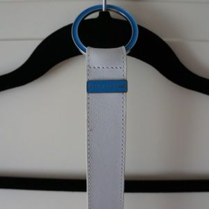 Paul & Shark Accessories - Paul & Shark white leather belt