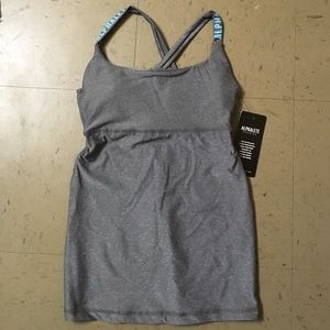 Built in bra fitted gym tank