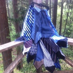 kreativekristen  Dresses & Skirts - HP,,Shades of Blue tie skirt