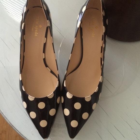 71 Off Kate Spade Shoes - Kate Spade Polka Dot Heels From -5430