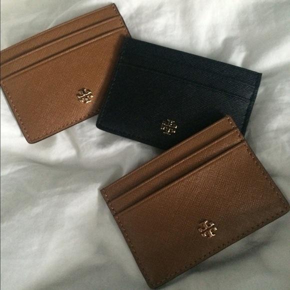 low priced 07e46 08e63 Tory Burch Robinson Slim Card Case NWT