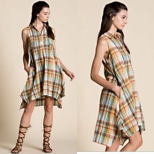 Dresses & Skirts - Plaid Dress with Pockets