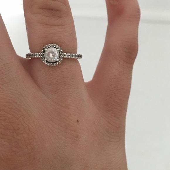 59 Off Pandora Jewelry Classic Elegance Clear Cz