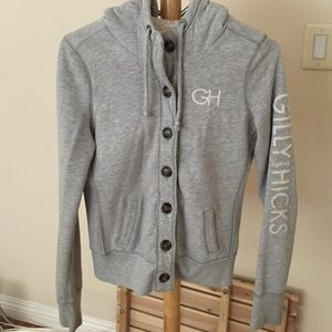 Gilly hicks light gray hooded sweater