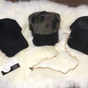 Leather and Suede Fashion Hats / Caps