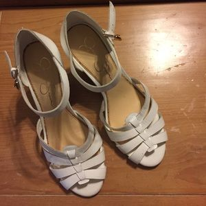 Jessica Simpson Shoes - Jessica Simpson White wedged heels