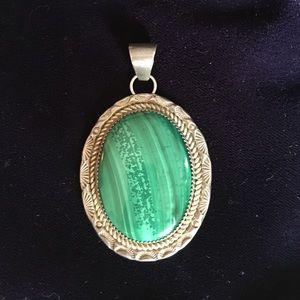 Vintage malachite pendant