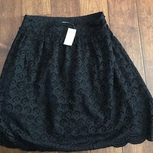 Black Eyelet Skirt LINED & NWT. Great for work!