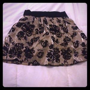 Gold and black Forever 21 mini skirt