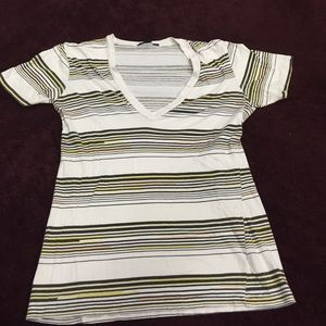 Truly madly deeply size small V-neck striped