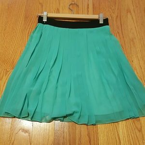 Forever 21 Teal Skirt S Pleated
