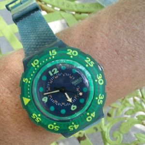 88 off swatch accessories vintage swatch scuba 200 blue - Swatch dive watch ...