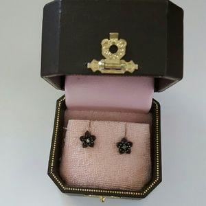 Juicy couture purple flower studs